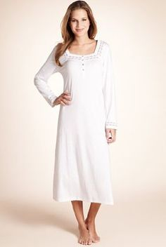 3facad269e Per Una Cool Comfort™ Modal Blend Lace Trim Long Nightdress - use for an  underdress