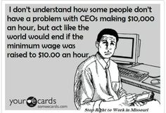 It's really very easy to understand. CEOs are paid by private corporations and their salaries are freely given to them by the owners/shareholders based on their perceived worth. It's not anyone else's business. Minimum wage workers are also paid on their worth (although it's already controlled by the gov't). This doesn't mean they don;t work hard, it just means their labor isn't particularly valuable. Their value as a human being is not calculated into the equation.