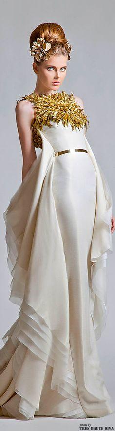 Krikor Jabotian Couture Vintage Wedding