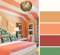 Trendy bedroom - orange room - Home and Garden Design Ideas Orange Rooms, Bedroom Orange, Bedroom Color Schemes, Bedroom Colors, Good Color Combinations, Color Combos, Trendy Bedroom, House Colors, Colorful Interiors