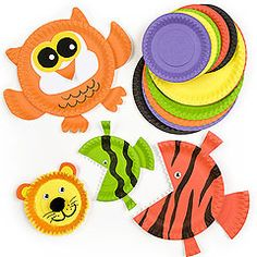 paper plate animals - endless possibilities! Love the biting fish idea