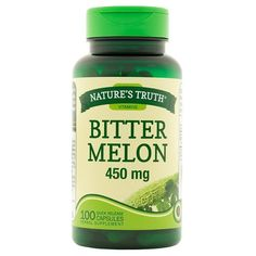 Bitter Melon by Nature's Truth is a plant that is widely grown in different parts of the world, including Asia, Africa, and the Caribbean. It is prized for its edible fruit, which has been used in traditional Ayurvedic wellness practices for centuries. Best Appetite Suppressant, Green Grapes Nutrition, Bitter Melon, Natural Treatments, Natural Cures, Nutritional Supplements, Nutrition Tips, Organic Recipes, Herbalism