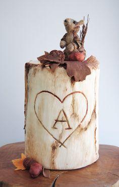 Autumn cake - cake by Viva la Tarta Gorgeous Cakes, Pretty Cakes, Cute Cakes, Amazing Cakes, Mini Tortillas, Fondant Cakes, Cupcake Cakes, Single Tier Cake, Woodland Cake