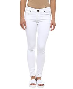6e3d0889 American Crew Women's Skinny Fit Jeans (White): Amazon.in: Clothing &
