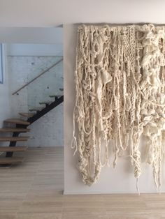 Wall hanging by Little Dandelion Art Fibres Textiles, Textile Fiber Art, Weaving Textiles, Weaving Art, Loom Weaving, Textile Artists, Weaving Wall Hanging, Macrame Wall Hangings, Large Macrame Wall Hanging