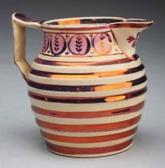 Size 3 - T. Nice Jugs, Mugs And Jugs, English Pottery, Water Into Wine, Vintage Tableware, Tea Set, Lancaster England, 19th Century, Glass Art