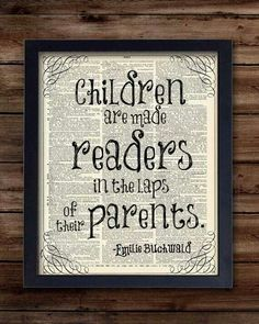 Set a good example: read in front of your children