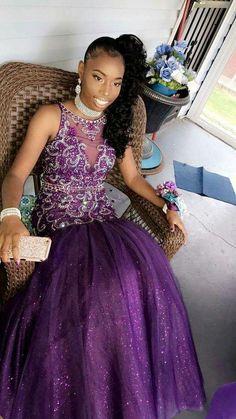 Purple Mermaid Long Prom Dress With Beading cg15127