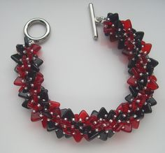 Spiral bracelet with triangle beads.