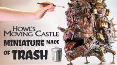 Cardboard Houses, Geek Things, Howls Moving Castle, Korean Art, Ghibli, Fun Crafts, Sculpting, The Creator, Geek Stuff