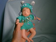 ooak hand sculpted polymer clay baby 68 inches mini reborn