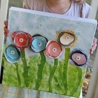 Egg carton FLower Canvas . . . Mother's Day craft