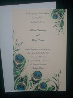 peacock invite