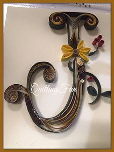 Customized Quilled Paper Craft Initial or Monogram by QuillingFun Hobbies And Crafts, Diy And Crafts, Arts And Crafts, Paper Crafts, Quilling Letters, Paper Quilling, Monogram Initials, Letter Monogram, Typography Design