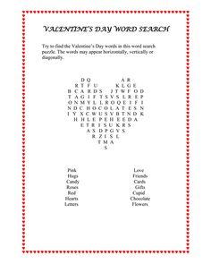 free printable valentine 39 s day worksheets valentine s day crossword puzzle valentine s day. Black Bedroom Furniture Sets. Home Design Ideas