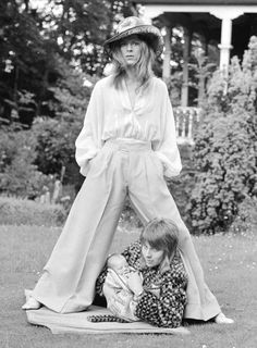 David and Angie Bowie with their baby son Zowie, 1971