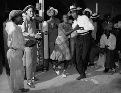 U.S. New Jersey, Swing dance, 1942. Lindy Hop is an African American dance form in the spirit of celebrating freedom from slavery.