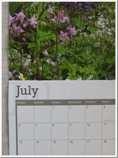 Gorgeous Cottage Garden Calendar by Fishtail Cottage - Featured at the Knick of Time Vintage Inspiration Party here --->> http://knickoftimeinteriors.blogspot.com/2013/11/knick-of-time-tuesday-111-vintage.html