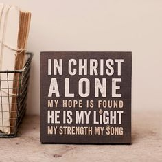 Lyrics for Life - In Christ Alone - Wall Art