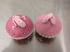 Scarpette da Ballerina - dancer shoes- ballet cupcakes by Manuela P. Ballerina Cupcakes, Shoe Cupcakes, Baking Cupcakes, Yummy Cupcakes, Cupcake Cakes, Cake Pops, Cupcake Pictures, Ballerina Birthday Parties, Crazy Cakes
