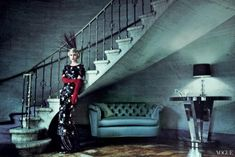 Fashion editorial: Carey Mulligan by Mario Testino and Grace Coddington for Vogue May 2013