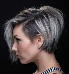 100 Mind-Blowing Short Hairstyles for Fine Hair – hair bangs long Short Hairstyles For Thick Hair, Short Hair Cuts, Bob Hairstyles, Short Hair Styles, Layered Hairstyles, Short Asymmetrical Hairstyles, Hairstyle Short, Medium Hairstyles, Choppy Haircuts