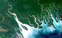 A delta in the Gulf of Papua, Papua New Guinea