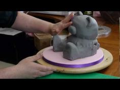 Paul Bradford here previewing the Teddy Bear cake. 8 short videos take you through every step in the process on the online video tutorial library at www.designer-cakes.com