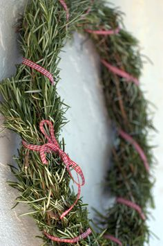 Rosemary Christmas Wreath DIY