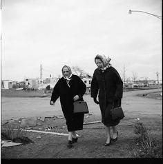 Crystal Lake, IL (two women in kerchiefs), 1963 by Vivian Maier