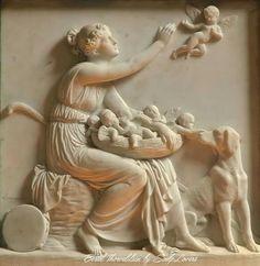 Sheperdess with cupid's nest. Bertel Thorvaldsen