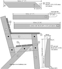 garden chair individual parts plan 2
