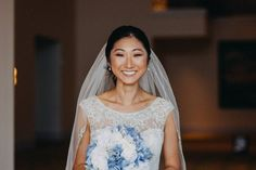 20 Ways to Wear a Veil With Your Wedding Hairstyle - Whether you're sporting a formal updo or long, loose waves, here's the lowdown on wedding hairstyles with veils. {Ingrid Peréz Artistry}