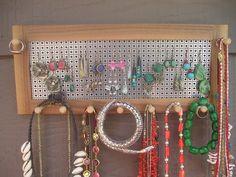 jewelry organizer jewelry holder jewelry storage earring holder walnut sustainable wood jewellery hanging jewelry organizer