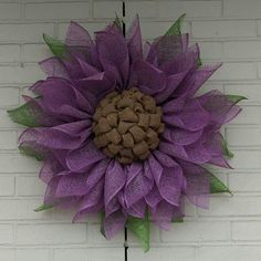 Lavender Flower Wreath Feather Wreath, Felt Wreath, Diy Wreath, Mesh Wreaths, Burlap Wreath, Initial Wreath, Vintage Wreath, Door Swag, Pumpkin Wreath