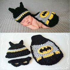 012M newborn baby Batman Crochet knit Costume photo by OhSooGirly, $20.00