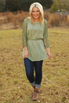 How Will I Know Top: Dusky Green #shophopes