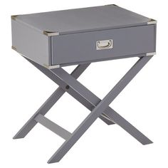 Mercury Row Neptune Campaign 1 Drawer End Table & Reviews | Wayfair.ca