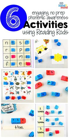 Reading Rods, Word Builders, Alphabet and Phonemic Awareness Linking Cubes for Early Reading & Word Work (Set of Small Group Activities, Spelling Activities, Literacy Activities, Auditory Learning, Learning Resources, Literacy Stations, Literacy Centers, Kindergarten Literacy, Preschool