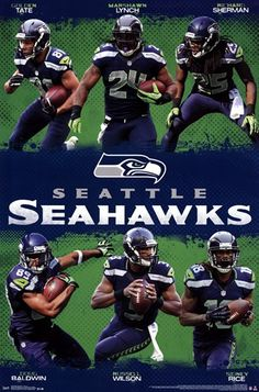 Unknown - Seattle Seahawks - Team 13 - art prints and posters Seahawks Super Bowl, Seahawks Football, Nfl Football Teams, Best Football Team, Nfl Sports, Seattle Seahawks, Seahawks Players, Sports Teams, 12th Man