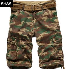 >> Click to Buy << 2017 New Summer Camouflage Camo Cargo Shorts Mens Casual Loose Shorts Male  Work  Man Military  Cotton Short Pants 3 Color Green #Affiliate