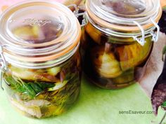 Aubergines confites façon pickles - Powered by @ultimaterecipe