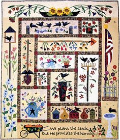 1st Entry in AQS Quilt Contest — Morgan Quality Products - Third Place  Primitive Garden  Barbara (Bobbe) Green and Irene Reising, Paducah, KY