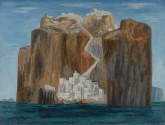 Στέρης Γεράσιμος-Santorini Modern Art, Contemporary Art, Benaki Museum, Greece Painting, European Paintings, 10 Picture, Greek Art, Conceptual Art, Greek Islands