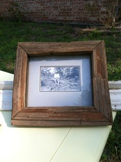 Rustic Picture Frame made from old fence rail.