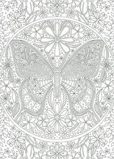 Gift this card uncolored so your recipient can enjoy the stress relieving benefits of coloring, or color it in for them to show you are thinking of them. Frame your work of art in a for everyone t Adult Coloring Book Pages, Printable Adult Coloring Pages, Coloring Pages To Print, Animal Coloring Pages, Free Coloring Pages, Coloring Sheets, Coloring Books, Butterfly Coloring Page, Mandala Coloring