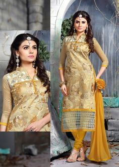 http://www.thatsend.com/shopping/lp/fvp/TESG182584/i/TE241400/iu/yellow-cotton-churidar-salwar-kameez  Yellow Cotton Churidar Salwar Kameez Apparel Pattern Embroidered. Stiching Type Unstitched. Work Embroidery, Border Lace. Bottom Color Yellow.