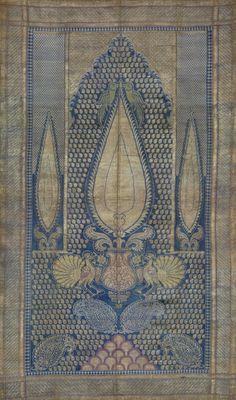 The Patternbase Digital Archive — amermaidheart: century Indian silk Motifs Textiles, Textile Fabrics, Vintage Textiles, Textile Patterns, Textile Art, Print Patterns, Fabric Art, Fabric Design, Pattern Design
