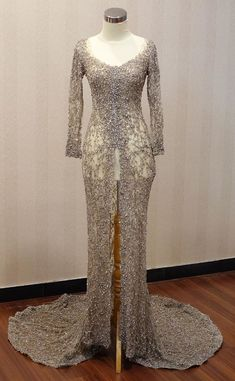Kebaya Brokat, Kebaya Dress, Kebaya Wedding, Wedding Gowns, Dress Brokat Modern, Model Kebaya, Elegant Dresses, Formal Dresses, Kebaya Muslim