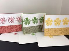 Card kit using Stampin' UP Flower Shop and Petite Petals stamp sets.